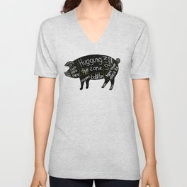 Cuts of Pig Unisex V-Neck