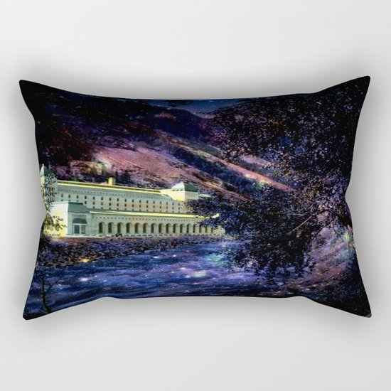 Enchanted Palace By the River Rectangular Pillow