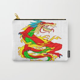 Vivid Red Fantasy Chinese Dragon Carry-All Pouch