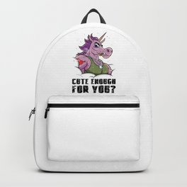 Cute Enough For You? Tough Unicorn With Muscles Backpack