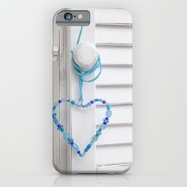 Blue Heart of beads iPhone Case