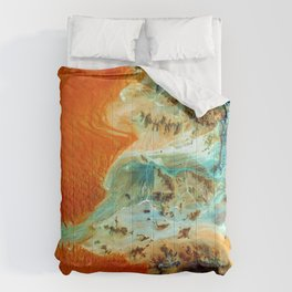The Oasis (Color) Comforters