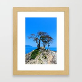 At the Brick of Loneliness Framed Art Print