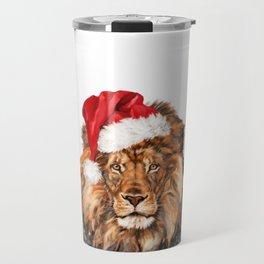 Christmas Lion Travel Mug