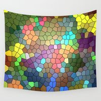 stained glass Wall Tapestries featuring Stained Glass by Inspired By Fashion
