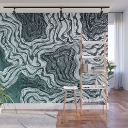 Ink River - Grey Blue edition Wall Mural