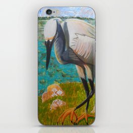 Egret Ready to Strike iPhone Skin
