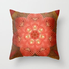 Antique Paper Rose Throw Pillow