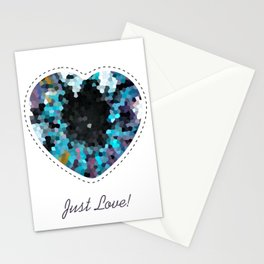 The pupil - abstract colorful background with a dark center Stationery Cards