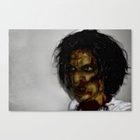 zombie Canvas Prints featuring Zombie!!  by Jake Stanton