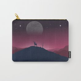 Lone Deer On A Bright, Cold Night Carry-All Pouch