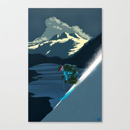 Retro ski Canvas Print