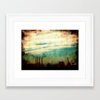 industrial Framed Art Prints featuring Industrial by [ his artwork ]