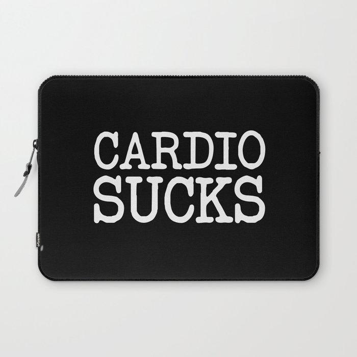 6b76bd4a633c9 Cardio Sucks Gym Quote Laptop Sleeve by jcanimals