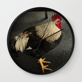 Ruler of the Roost Wall Clock