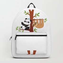 Cute Sloth & Panda Backpack