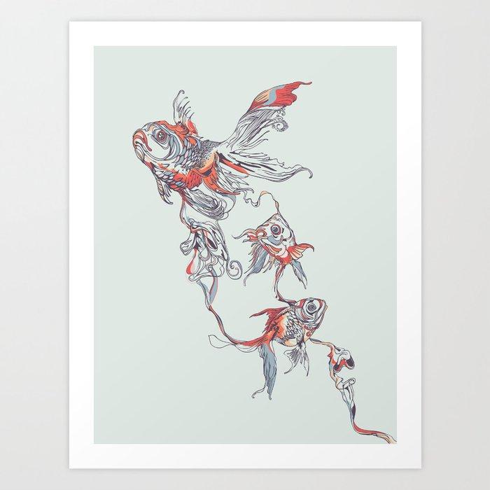 Floating in Deep Art Print