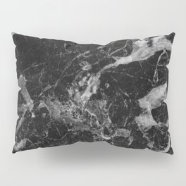 Black and Gray Marble Pattern Pillow Sham
