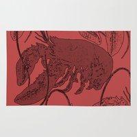 lobster Area & Throw Rugs featuring lobster by Isabella Asratyan