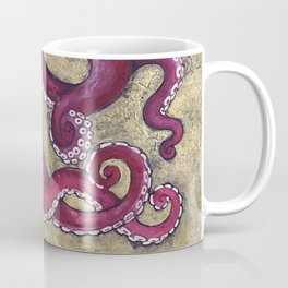 Octopus on Gold Coffee Mug