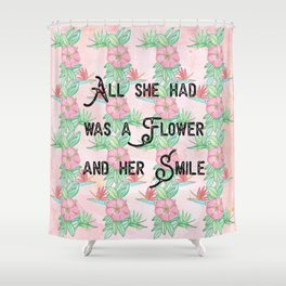 Surfer girl quotes Shower Curtain