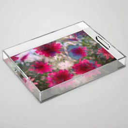 flowers abstract Acrylic Tray