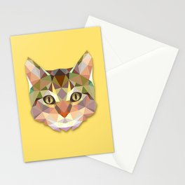 Geometric Cat Stationery Cards