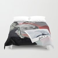 fuck you Duvet Covers featuring fuck it. you win. by Rosa Picnic