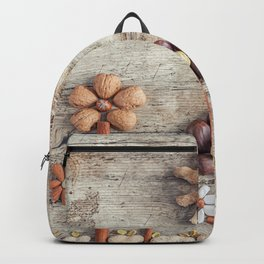 Dried fruits arranged forming flowers (3) Backpack