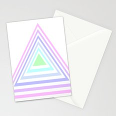 pastel rainbow triangles Stationery Cards