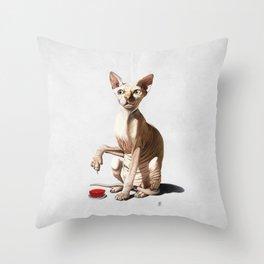 Cat-astrophe (Wordless) Throw Pillow