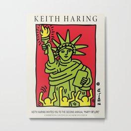 Statue of liberty- Keith Art, Exhibition Poster, Japan Vintage Print Metal Print
