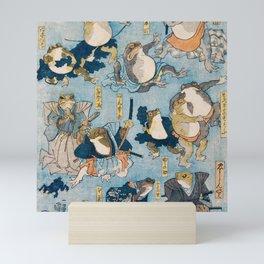 The Samurais Toads Mini Art Print