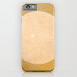 Arizona Moon Minimalism Beige Mango Yellow iPhone Case