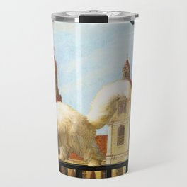 The Butterfly and the Cat Travel Mug