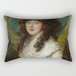 "Thomas Gainsborough ""Miss Catherine Tatton"" Rectangular Pillow"