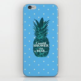 I would rather shower with a bear - Psych quotes iPhone Skin
