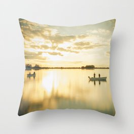 Ghosts on a Boat Throw Pillow