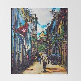 Havana, CUBA No.2   2015 Throw Blanket