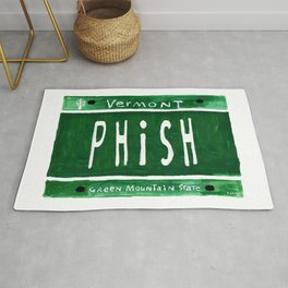 Phish license plate Rug