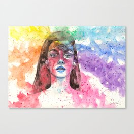 Opening the third eye Canvas Print