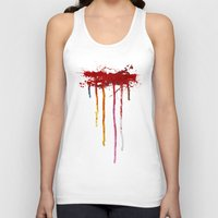 reservoir dogs Tank Tops featuring Reservoir Dogs Blood Drip by Van Hog Trio