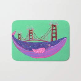 Golden Gate Whale Bath Mat