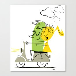 scooter ride! Canvas Print