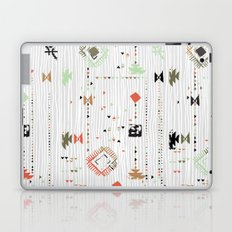 Print with stripes and lines, abstract shapes and dots Laptop & iPad Skin