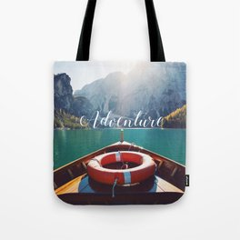 Live the Adventure - Typography Tote Bag