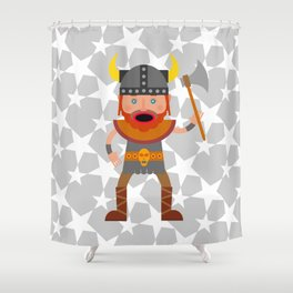 A Mighty Viking Shower Curtain