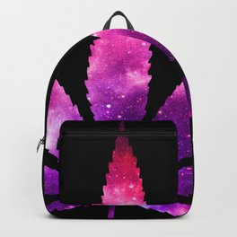Weed : High Times fuchsia Pink Purple Galaxy Backpack