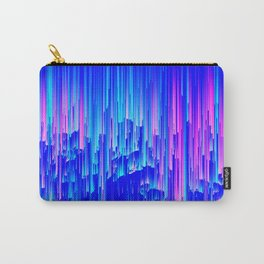 Neon Rain - A Digital Abstract Carry-All Pouch