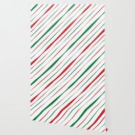 Christmas Stripes Wallpaper